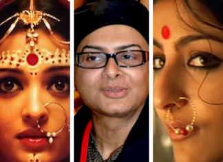 This is the Image of famous actor and Director Rituporna Ghosh who was considered as a tribute to LGBT community.